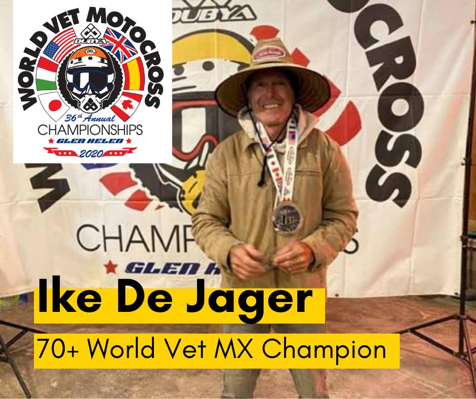 Ike De Jager World Vet MX Champion
