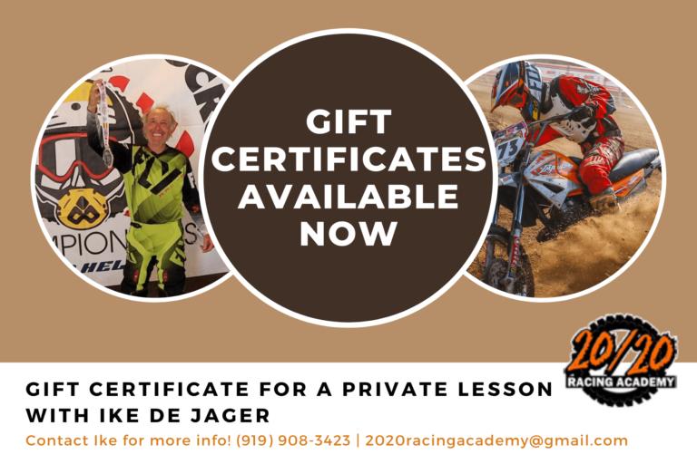 gift certificate motocross training